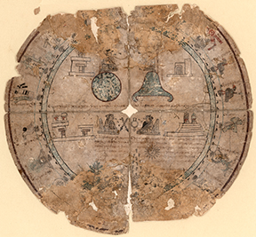 Boban calendar wheel on amatl paper, Aztec, ca. 1545–46