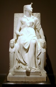 """The Death of Cleopatra"" by Edmonia Lewis (Mississauga Ojibwe), 1876. Photo: Cliff 1066"