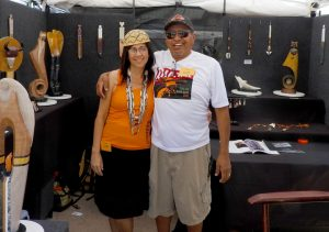 Leah Mata (Chumash) and Cliff Fragua (Jemez)
