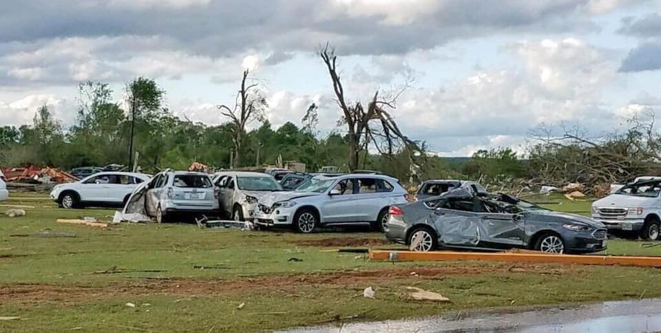 Caddo Mounds tornado