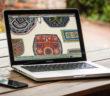 Laptop with Haudenosaunee beadwork