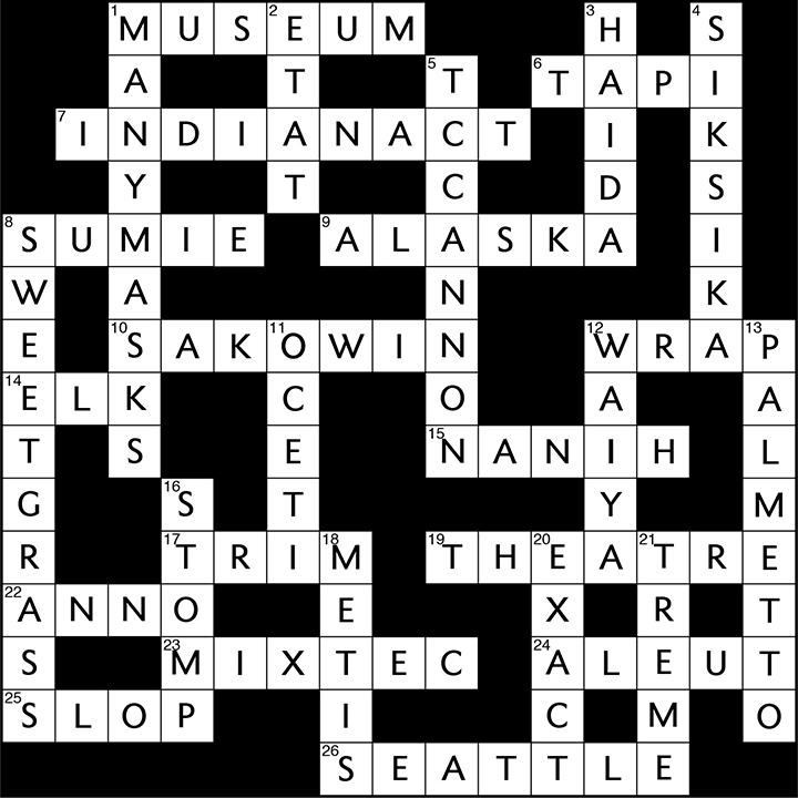 FAAM 24 crossword puzzles anwers