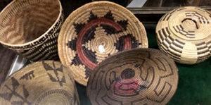 Antique Native baskets