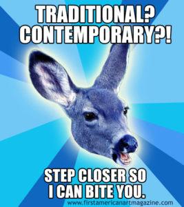 Blue Deer Traditional Contemporary