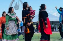 Choctaw Nation stomp dancers at First Americans Museum